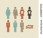 medical staff over cream... | Shutterstock .eps vector #140889550