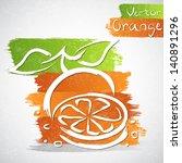 vector illustration of orange... | Shutterstock .eps vector #140891296