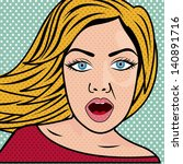 woman comics over white... | Shutterstock .eps vector #140891716