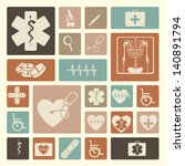 medical icons over pink...   Shutterstock .eps vector #140891794