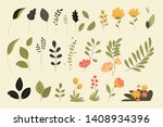 set of isolated nature elements.... | Shutterstock .eps vector #1408934396
