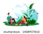 nature vector illustration.... | Shutterstock .eps vector #1408937810