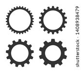 set of gear icons. collection... | Shutterstock .eps vector #1408938479