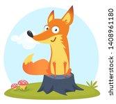 Cartoon Funny Fox. Illustration ...