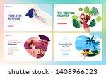 set of flat design web page... | Shutterstock .eps vector #1408966523