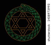 design snake ouroboros symbol ... | Shutterstock .eps vector #1408973993