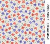 seamless flowers | Shutterstock .eps vector #140897800