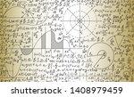 scientific vector seamless... | Shutterstock .eps vector #1408979459