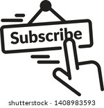 subscribe plate icon as eps 10... | Shutterstock .eps vector #1408983593