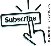 subscribe plate icon as eps 10... | Shutterstock .eps vector #1408987940