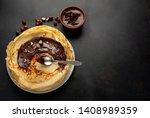 Pancakes With Chocolate Paste...