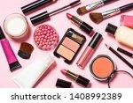 makeup professional cosmetics... | Shutterstock . vector #1408992389
