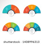 set of business infographic... | Shutterstock .eps vector #1408996313