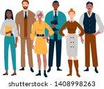 portrait of business team... | Shutterstock .eps vector #1408998263