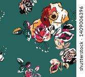 seamless floral pattern.... | Shutterstock .eps vector #1409006396
