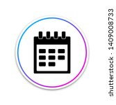 calendar icon isolated on white ...
