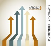 arrows infographics over white... | Shutterstock .eps vector #140901049