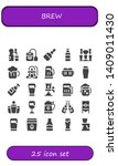 brew icon set. 25 filled brew... | Shutterstock .eps vector #1409011430