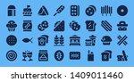 bread icon set. 32 filled bread ... | Shutterstock .eps vector #1409011460