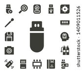 memory icon set. 17 filled... | Shutterstock .eps vector #1409011526