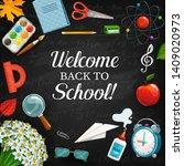 welcome back to school written... | Shutterstock .eps vector #1409020973