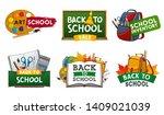 school supplies vector icons of ...   Shutterstock .eps vector #1409021039