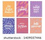 hand lettering summer... | Shutterstock .eps vector #1409037446
