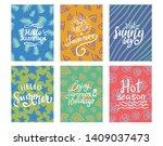 hand lettering summer...   Shutterstock .eps vector #1409037473