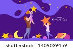 father lifting up to the sky... | Shutterstock .eps vector #1409039459
