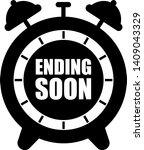 ending soon alarm clock icon  | Shutterstock .eps vector #1409043329