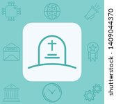 tombstone vector icon sign... | Shutterstock .eps vector #1409044370