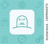 tombstone vector icon sign... | Shutterstock .eps vector #1409044373