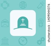 tombstone vector icon sign... | Shutterstock .eps vector #1409044376
