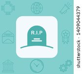 tombstone vector icon sign... | Shutterstock .eps vector #1409044379