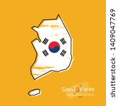 map of south korea with  brush...   Shutterstock .eps vector #1409047769