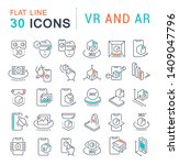 set of vector line icons of vr... | Shutterstock .eps vector #1409047796