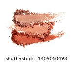Stock photo eye shadow glitter shimmer red brown multi colored texture background white isolated 1409050493
