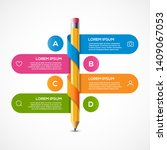 pencil info graphic design... | Shutterstock .eps vector #1409067053