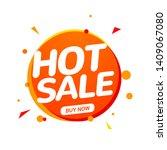 hot sale speech bubble banner... | Shutterstock .eps vector #1409067080