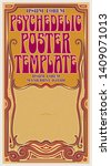 a template for a tall poster or ... | Shutterstock .eps vector #1409071013