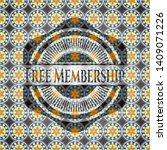 free membership arabesque... | Shutterstock .eps vector #1409071226