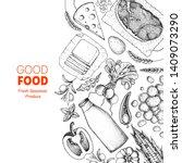 good food store design concept. ... | Shutterstock .eps vector #1409073290