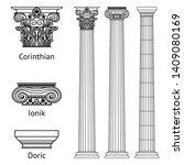 a set of antique greek... | Shutterstock .eps vector #1409080169