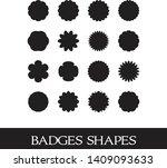 set vector 1.badges shapes ... | Shutterstock .eps vector #1409093633