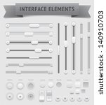 user interface elements. vector ... | Shutterstock .eps vector #140910703