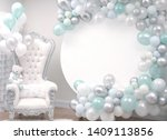 beautiful decoration armchair... | Shutterstock . vector #1409113856