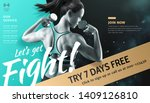 fitness woman with dumbbell in...   Shutterstock .eps vector #1409126810