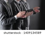 close up.a group of business... | Shutterstock . vector #1409134589
