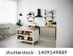 spacious modern scandinavian... | Shutterstock . vector #1409149889