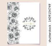 vintage delicate greeting... | Shutterstock .eps vector #1409154749